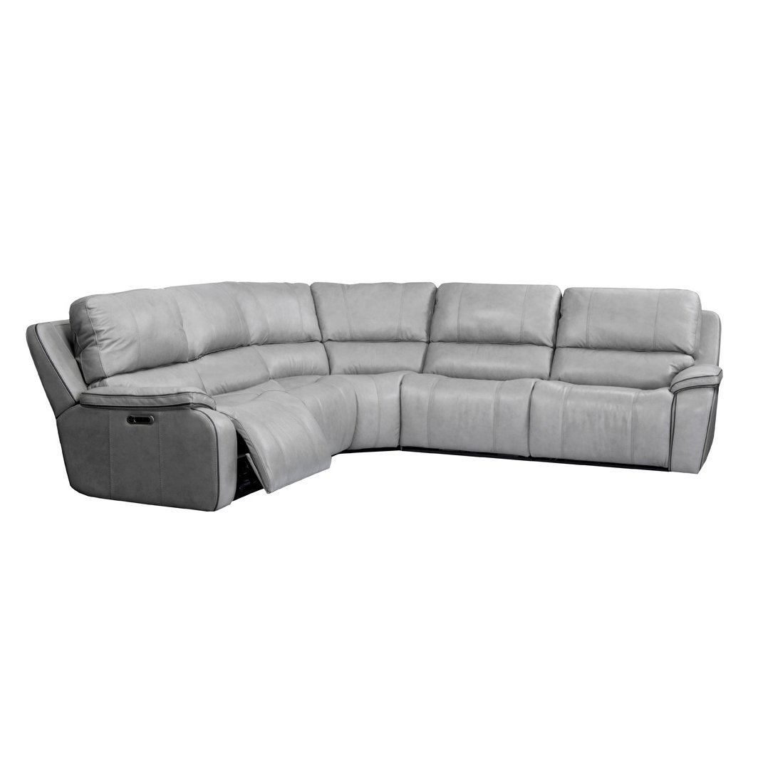 Mist Light Gray 5 Piece Power Reclining Sectional Sofa Harry Rc Willey Furniture Store