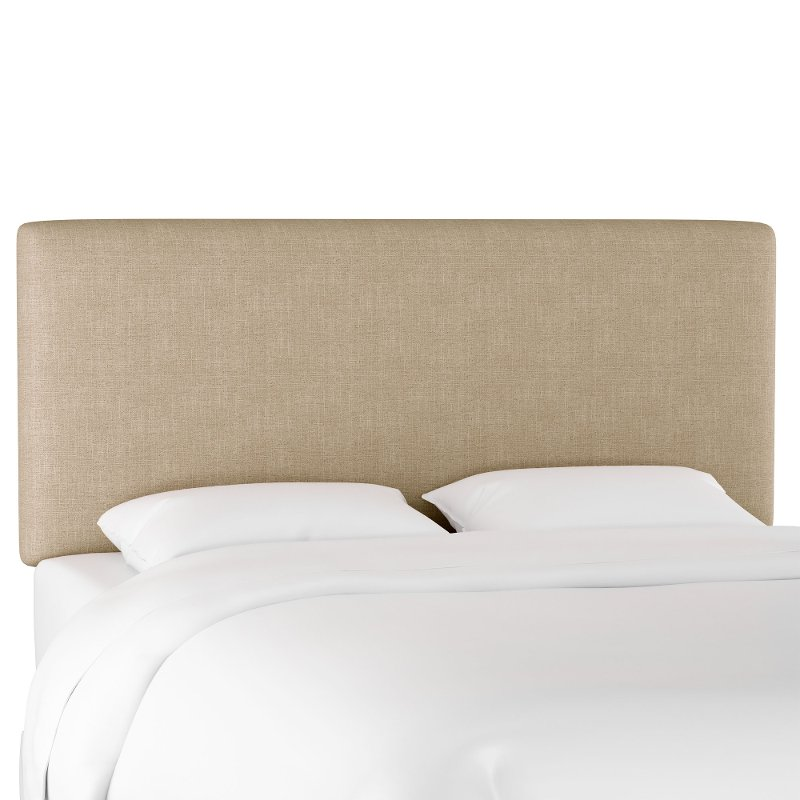 Contemporary Linen Beige King Upholstered Headboard Rc Willey Furniture Store