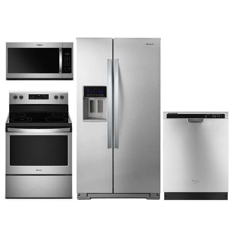 Whirlpool 4 Piece Electric Kitchen Appliance Package With