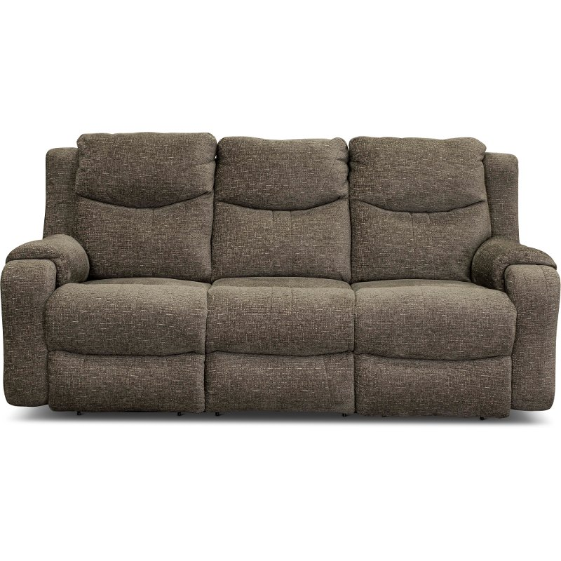 Casual Contemporary Mink Brown Power Reclining Sofa - Marvel