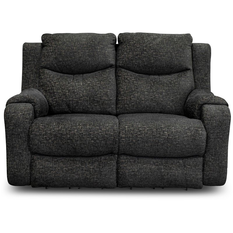 Cool Contemporary Charcoal Gray Power Reclining Loveseat Marvel Theyellowbook Wood Chair Design Ideas Theyellowbookinfo