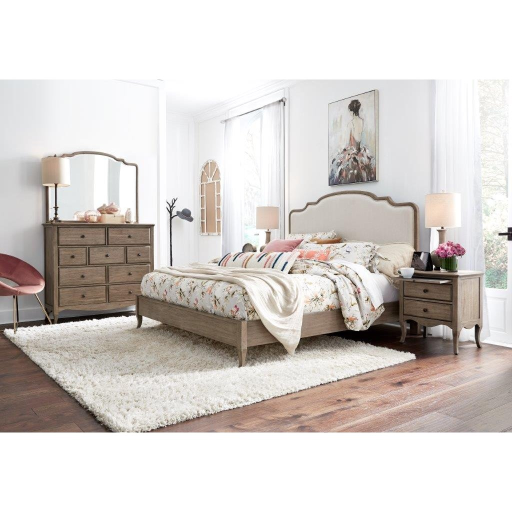 Oat Beige 4 Piece California King Bedroom Set Provence Rc