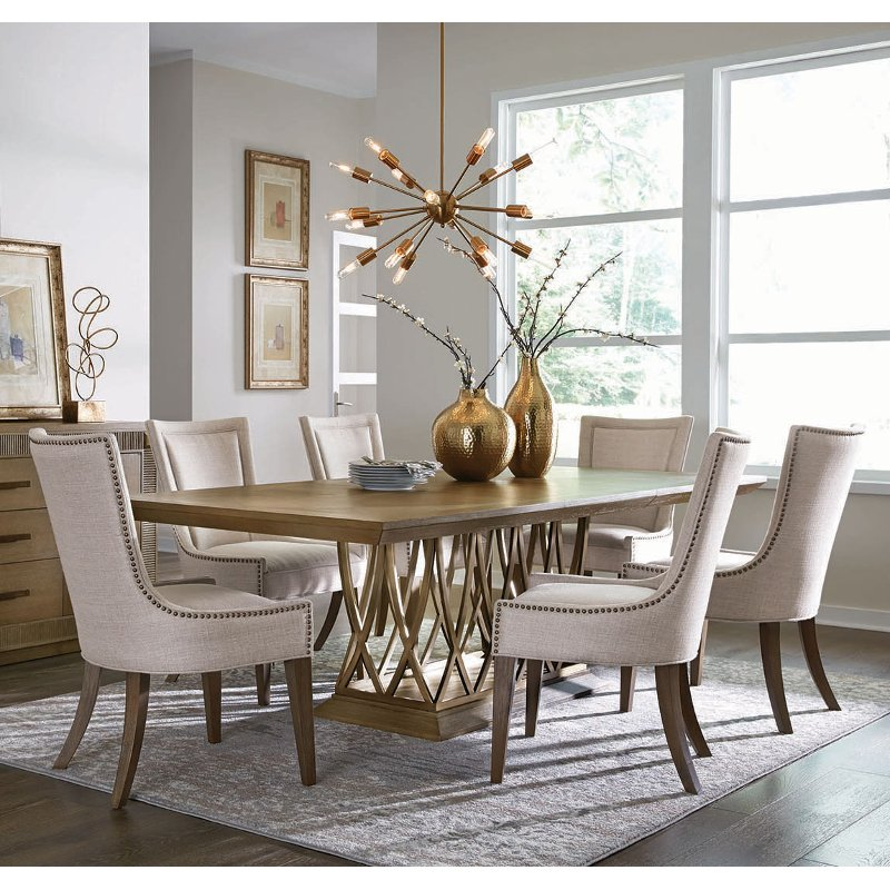 Classic Contemporary Brown 5 Piece Dining Set Park Avenue Rc Willey Furniture Store