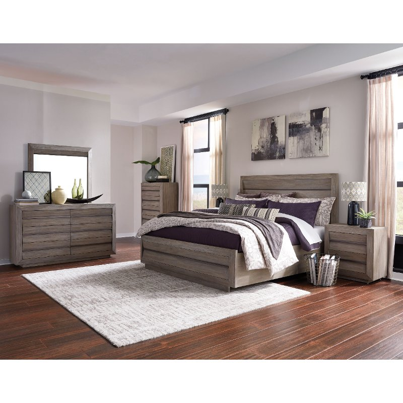 Modern Sandstone 4 Piece Queen Bedroom Set - Palisade