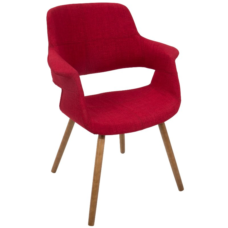 Red Mid Century Modern Accent Chair Vintage Flair Rc Willey