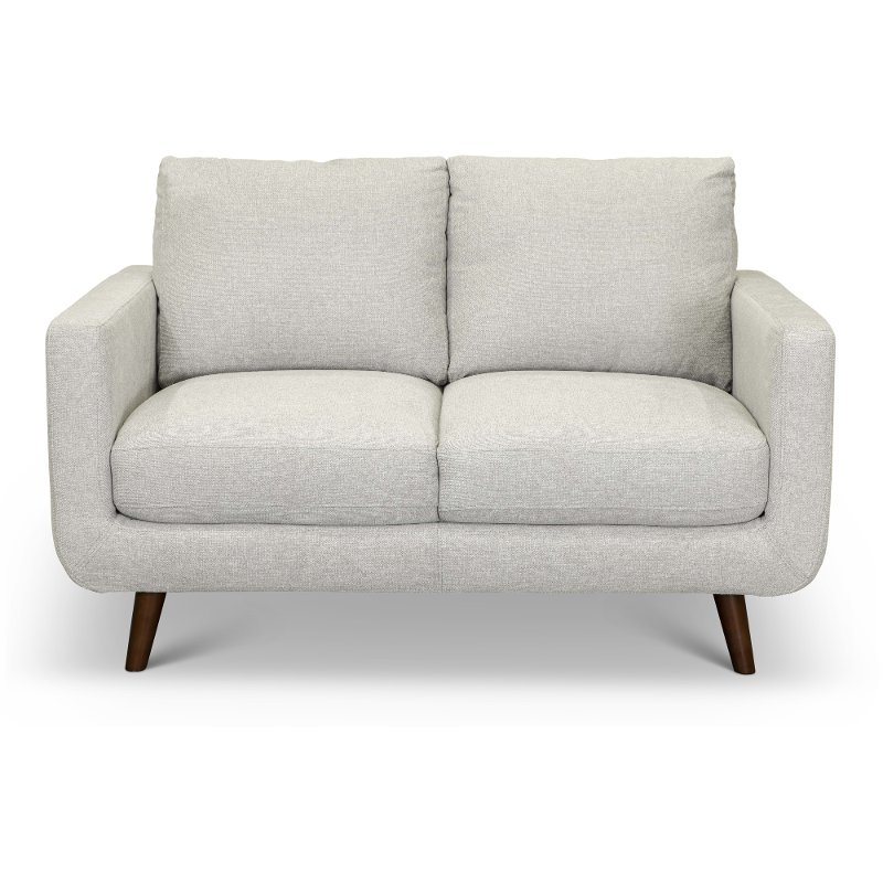 Surprising Modern Light Gray Loveseat Parker Gmtry Best Dining Table And Chair Ideas Images Gmtryco