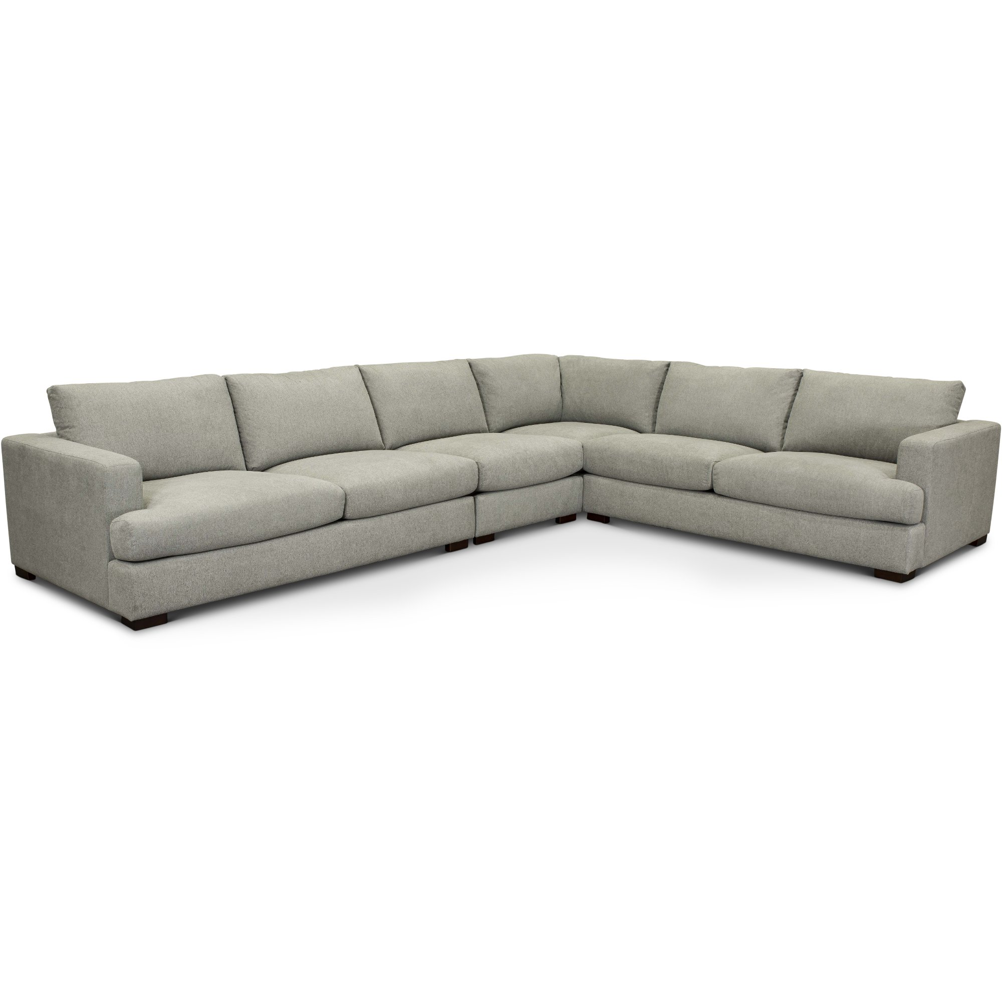 Contemporary Light Gray 4 Piece Sectional Sofa Colbie Rc Willey Furniture Store