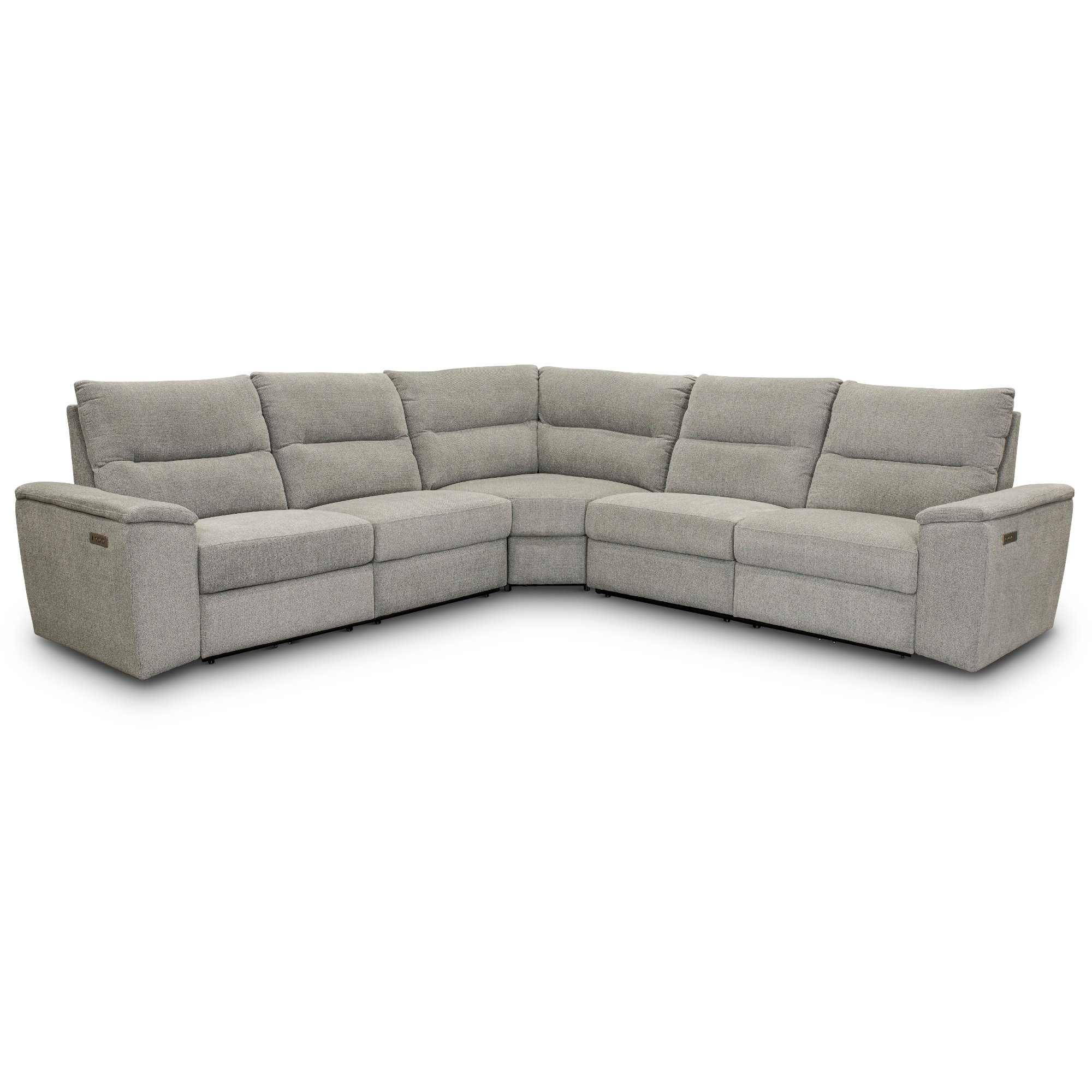 Ash 3 Piece Power Reclining Sectional Sofa Cush Rc Willey Furniture Store