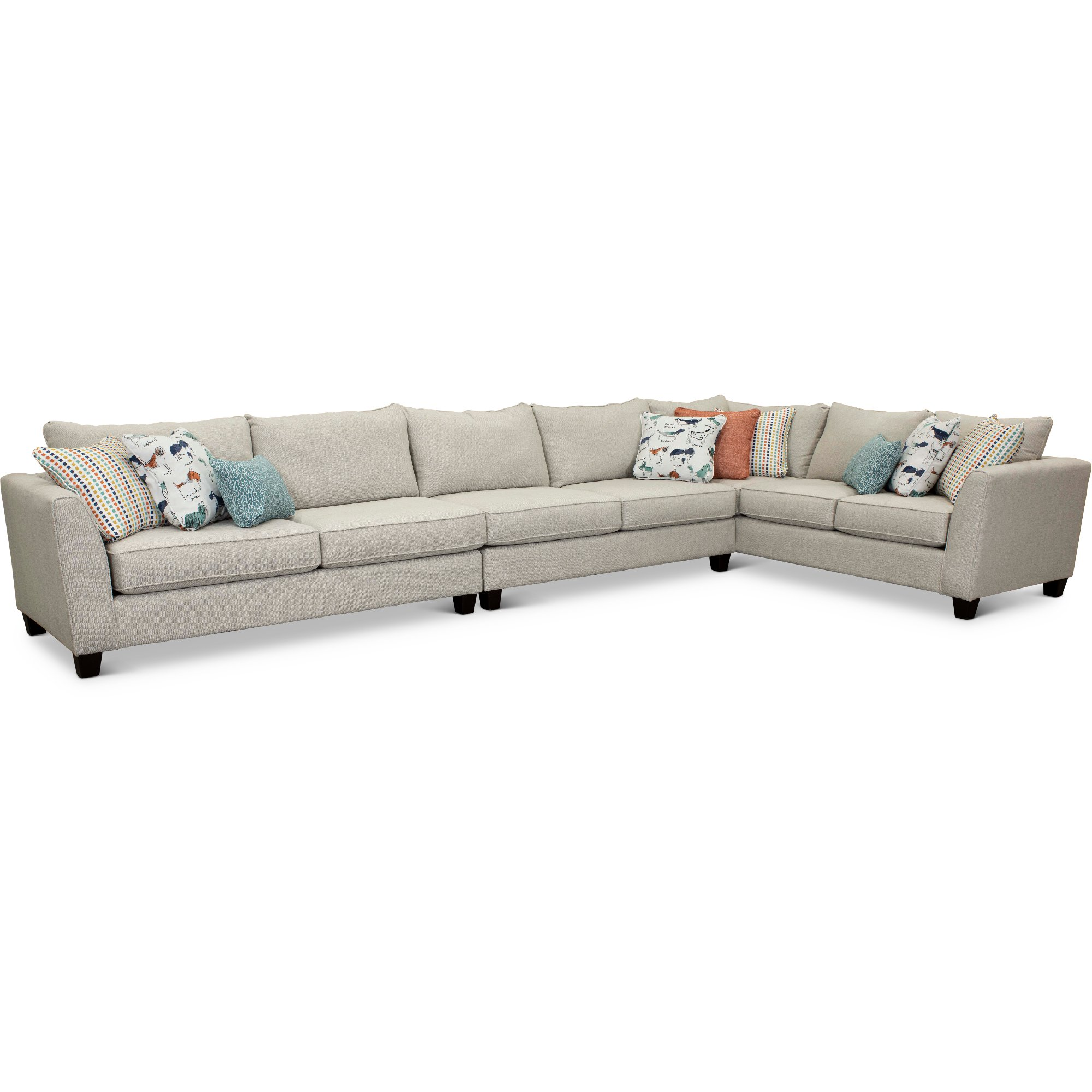 Stone 3 Piece Sectional Sofa With Laf