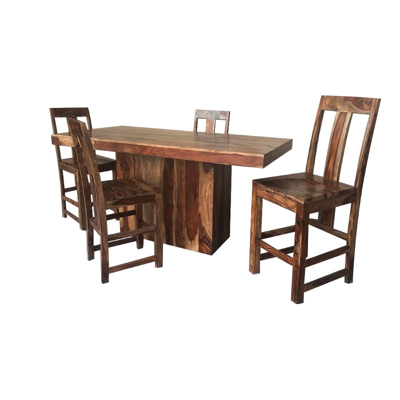 Average Dining Room Table Height: Sheesham 5 Piece Counter Height Dining Set - Buffalo