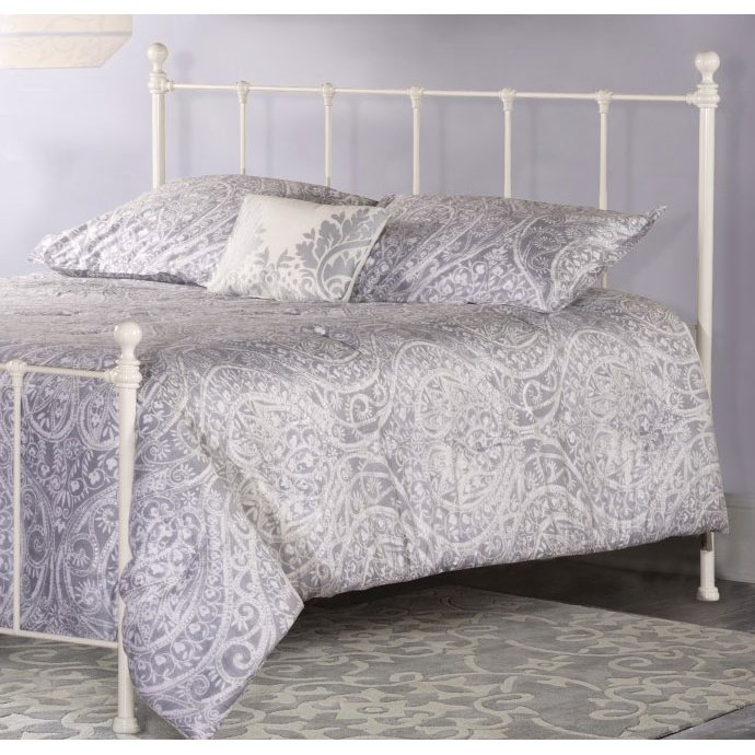 Classic White Full-Queen Metal Headboard - Molly