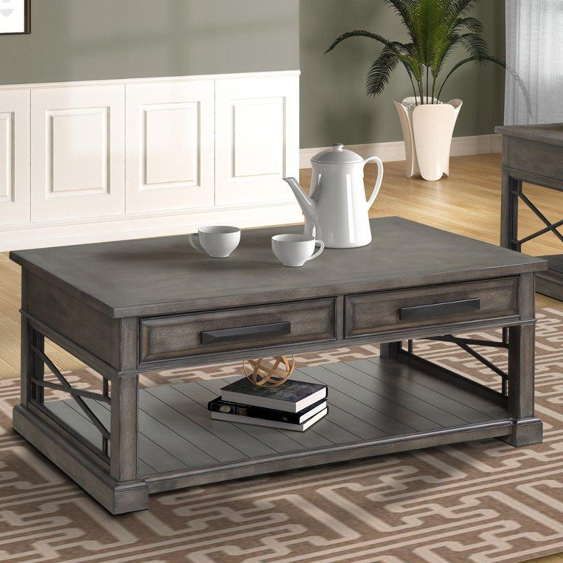 Smokey Gray Coffee Table Sundance Rc Willey Furniture Store