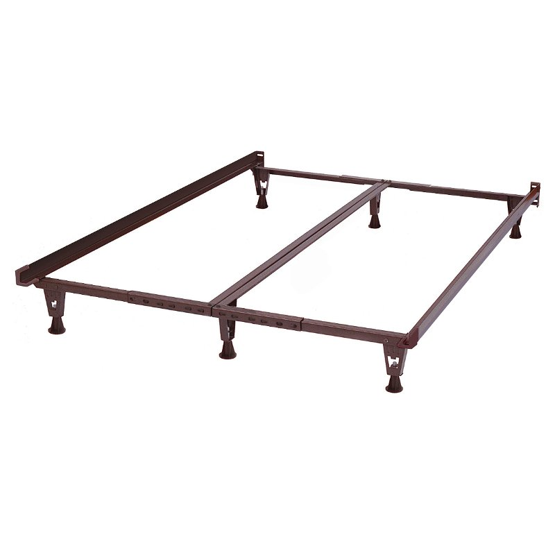 Rc Willey Salt Lake: Brown Steel Universal Standard Bed Frame - All Sizes