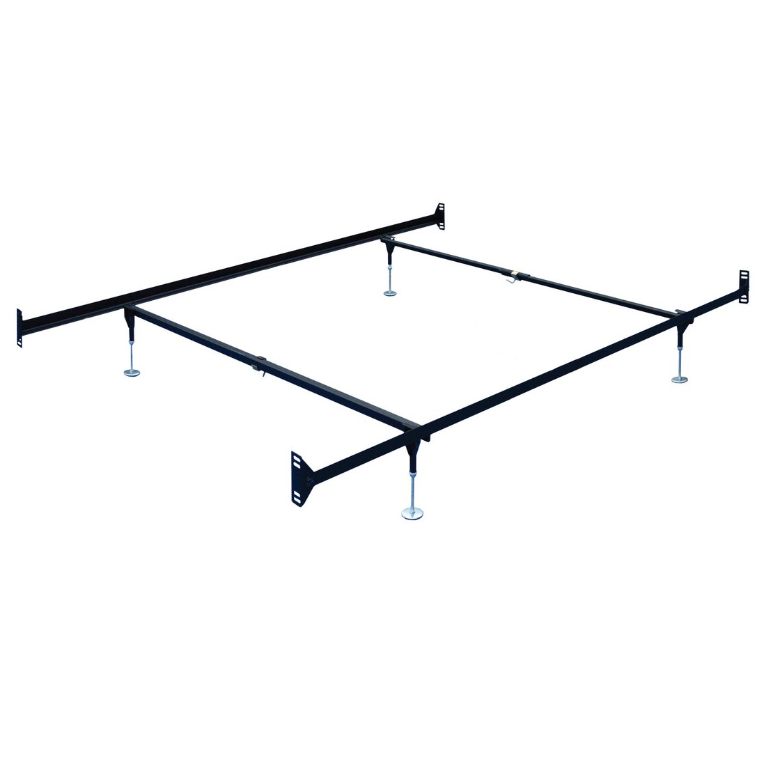 Brown Steel Twin Full Size Bed Frame Double End Rc Willey Furniture Store