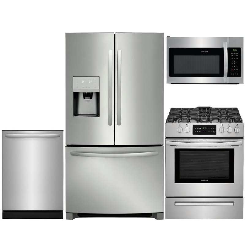 Frigidaire 4 Piece Gas Kitchen Appliance Package with 26.8 ...