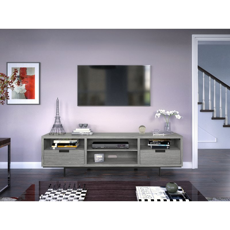78 Inch Modern Gray Tv Stand Wynwood Rc Willey Furniture Store