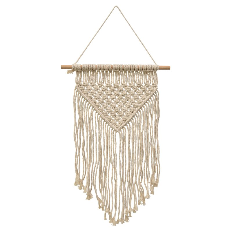19 Inch Cream Macrame Wall Decor Rc Willey Furniture Store