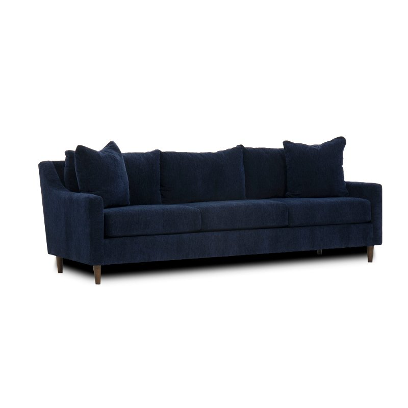 Fabulous Mid Century Modern Dark Blue Sofa Sasha Ncnpc Chair Design For Home Ncnpcorg