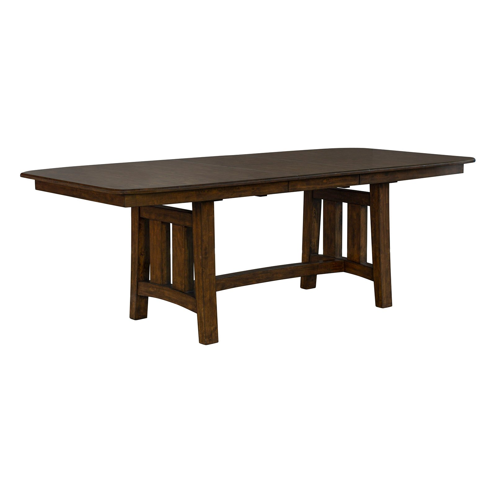 Rustic Brown Trestle Dining Room Table - Henderson