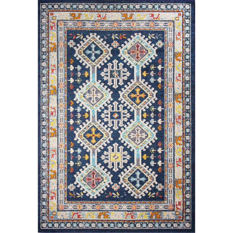Navy Blue and Ivory Area Rug