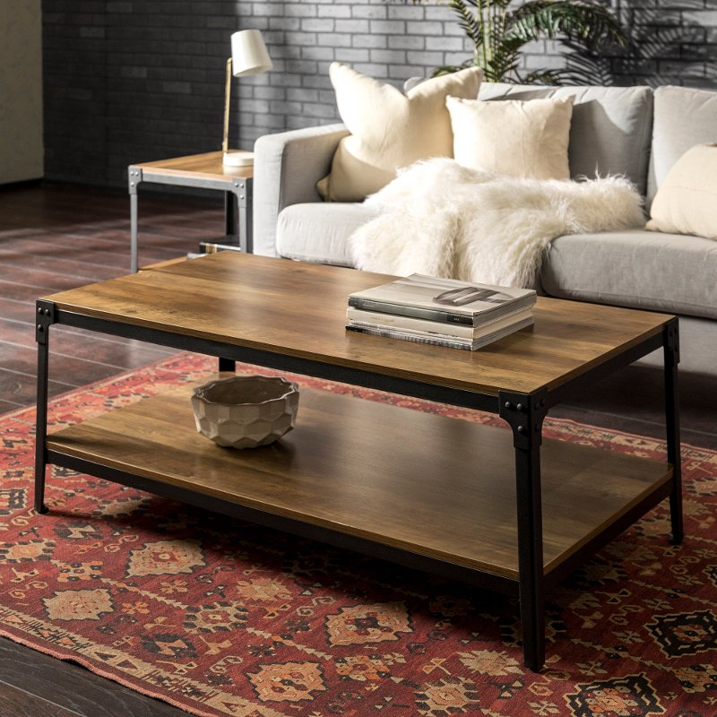 Rustic Wood Coffee Table Rustic Oak Rc Willey Furniture Store