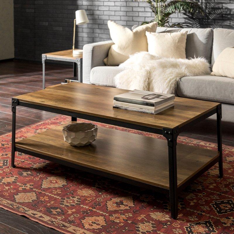 Rustic Wood Coffee Table - Rustic Oak