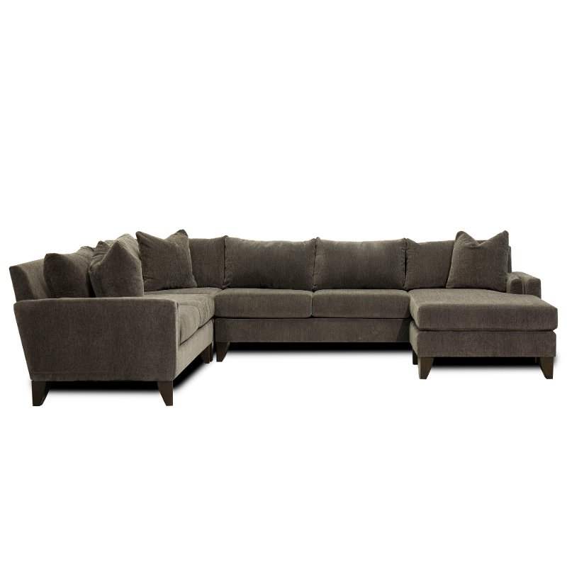 Magnificent Fog Gray 3 Piece Sectional Sofa With Laf Loveseat Riley Machost Co Dining Chair Design Ideas Machostcouk