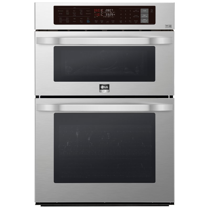 Lg Studio 30 Inch Smart Combination Wall Oven With Microwave 6 4 Cu Ft Stainless Steel Rc Willey Furniture