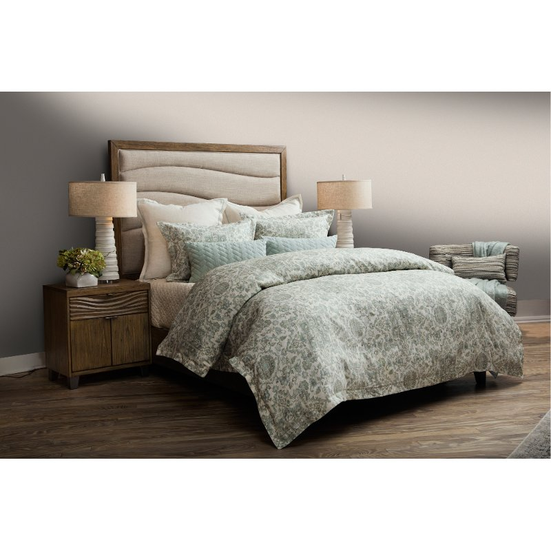 Northridge Spa Blue King 8 Piece Duvet Bedding Collection