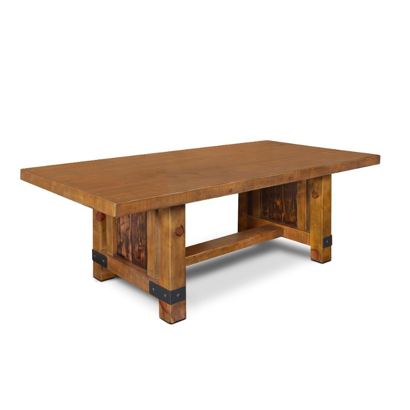 Rustic Pine Dining Room Table - Big Timber