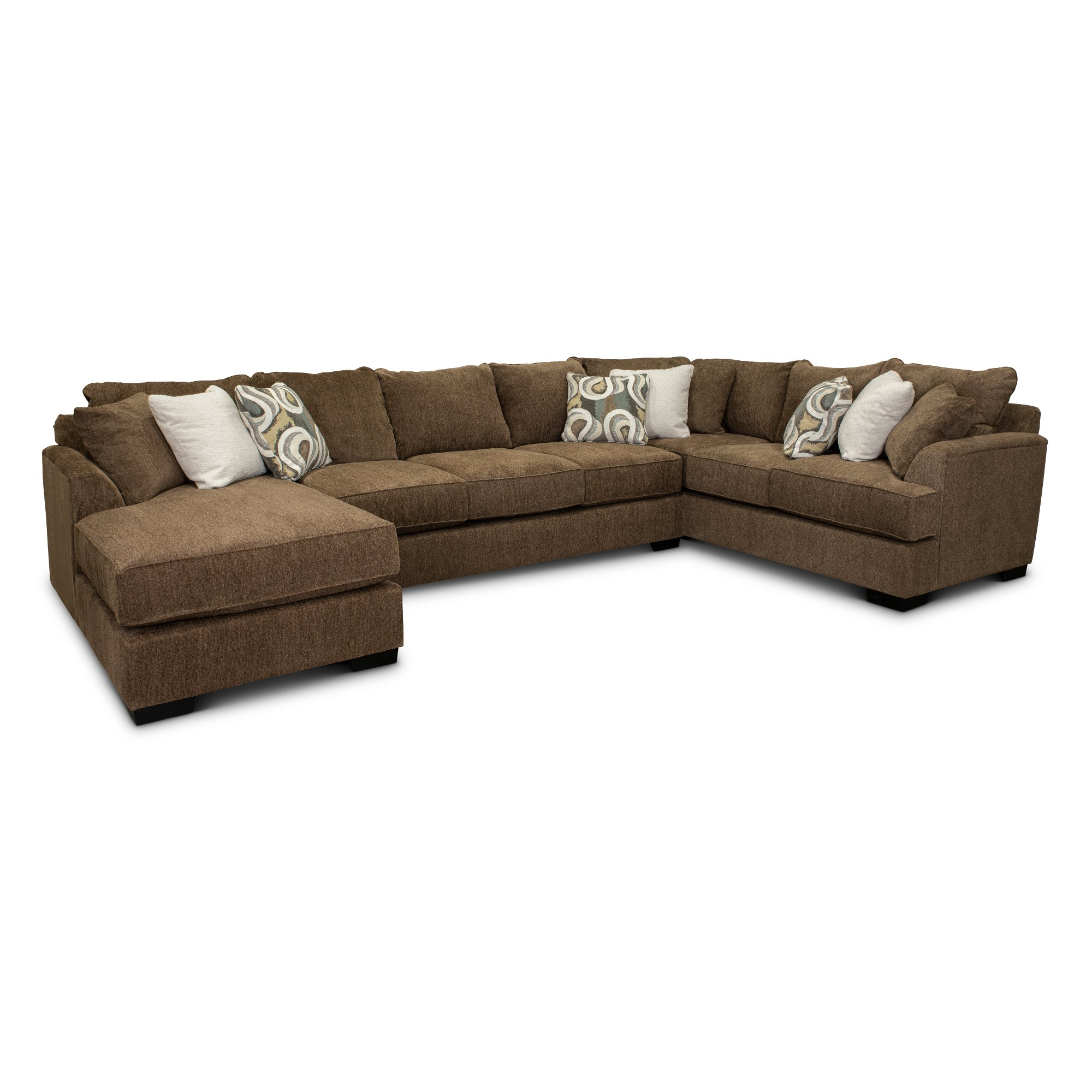 Brown 3 Piece Sectional Sofa With Laf Chaise Tranquility Rc Willey Furniture Store