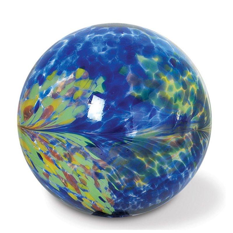 10 Inch Blue Kaleidoscope Glass Gazing Ball Rc Willey Furniture Store