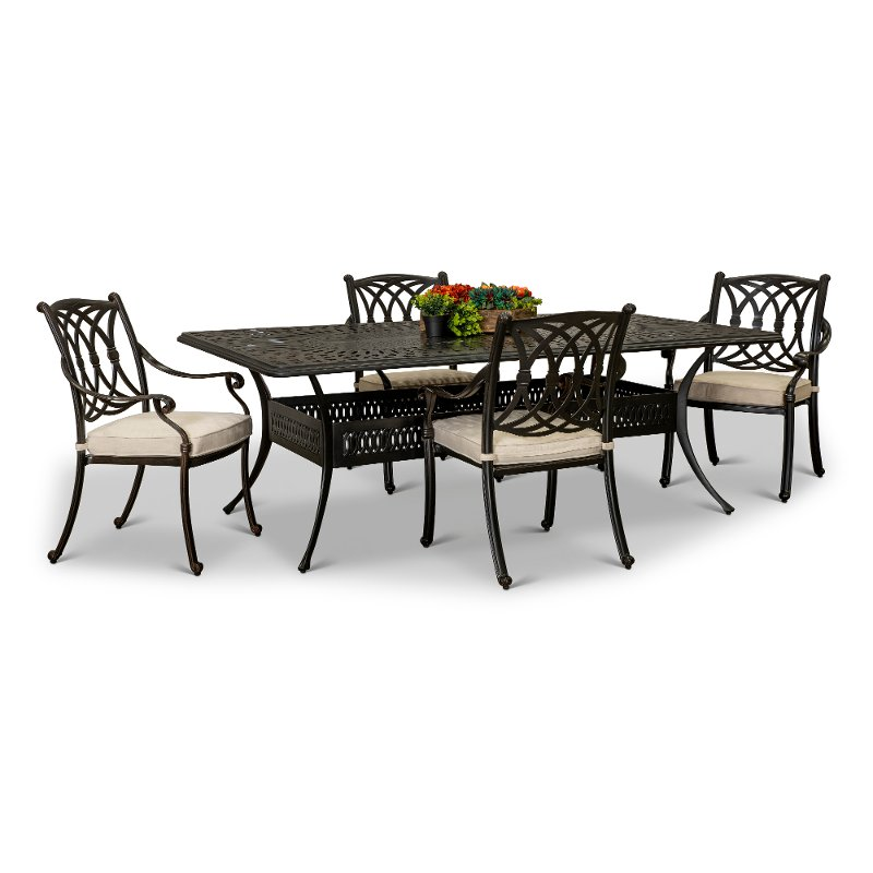 Traditional 5 Piece Patio Table Montreal Rc Willey Furniture Store