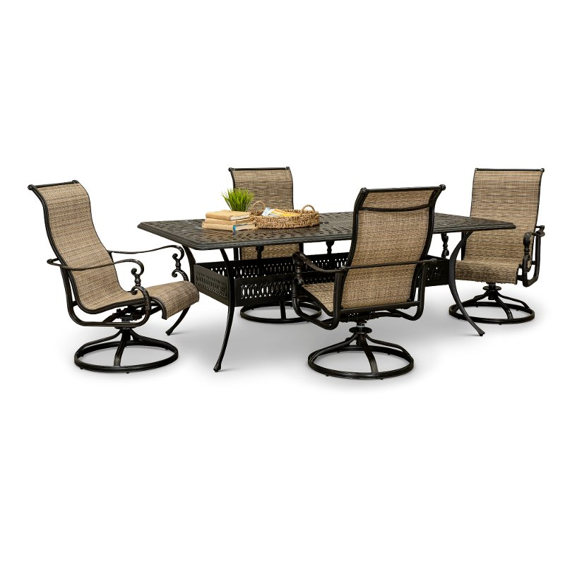 Patio Table With Rocking Chairs Off 73, Patio Furniture Swivel Rocker Chairs