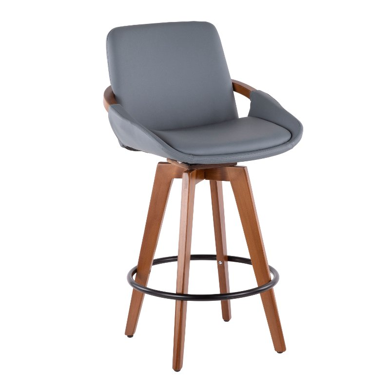 Excellent Mid Century Gray And Brown 26 Inch Counter Height Stool Cosmo Gmtry Best Dining Table And Chair Ideas Images Gmtryco