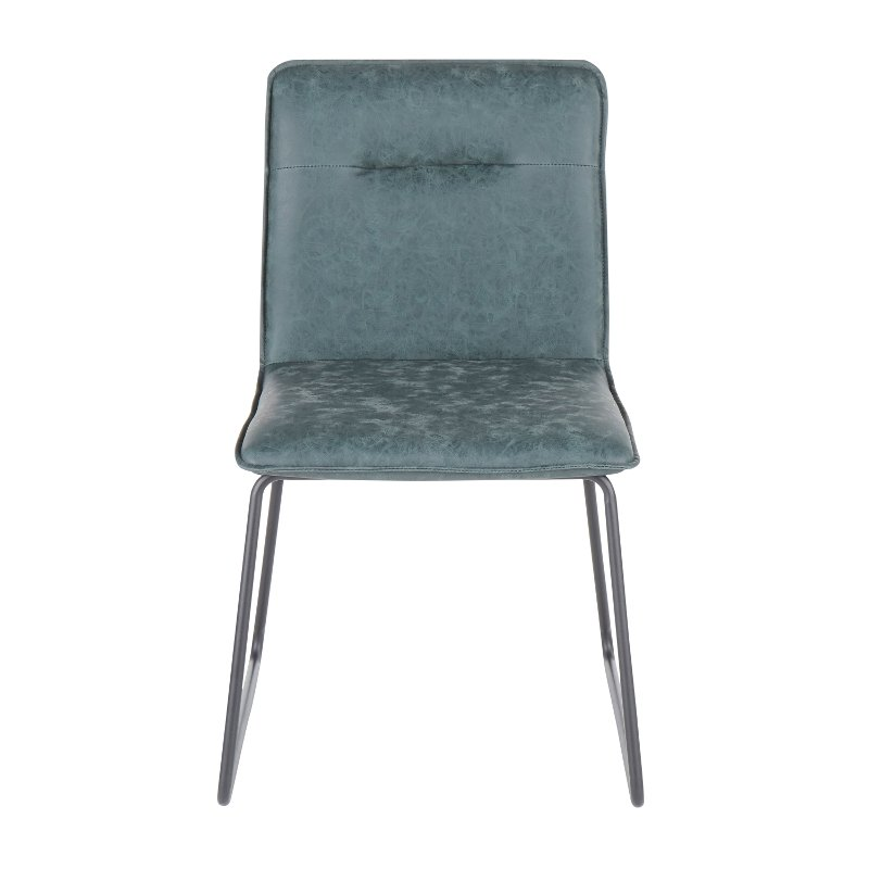Industrial Green Faux Leather Dining Room Chair Set Of 2 Casper Rc Willey Furniture Store