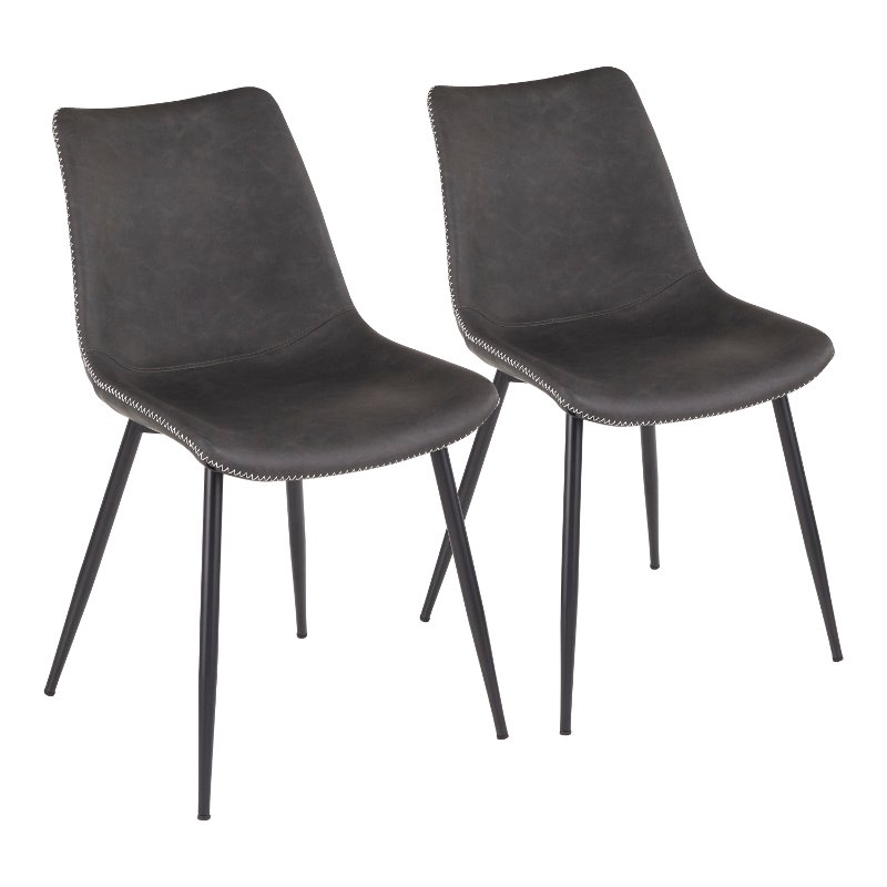 Industrial Gray Dining Room Chairs (Set of 2) - Durango