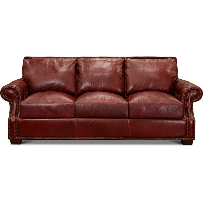 Contemporary Red Leather Sofa Marsala, Red Leather Furniture