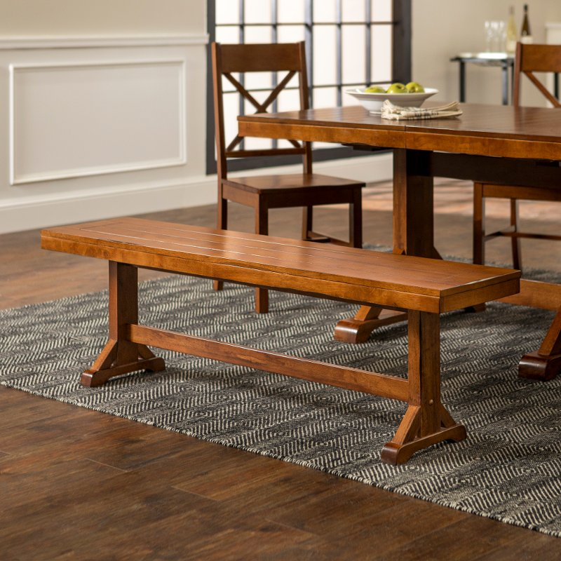 Industrial Brown 60 Inch Dining Room, Dining Room Bench
