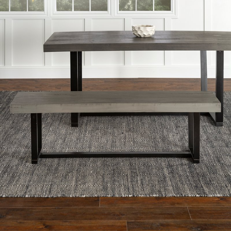 Gray 60 Inch Dining Room Bench Rc Willey, Dining Room Bench