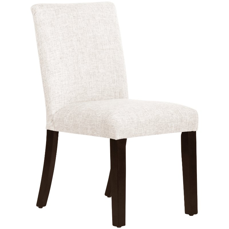 White Upholstered Dining Room Chair, White Linen Dining Room Chairs
