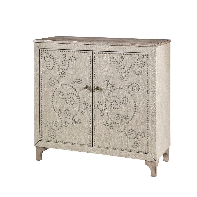 Neutral Two Door Accent Cabinet Kaden, Accent Cabinet With Drawers