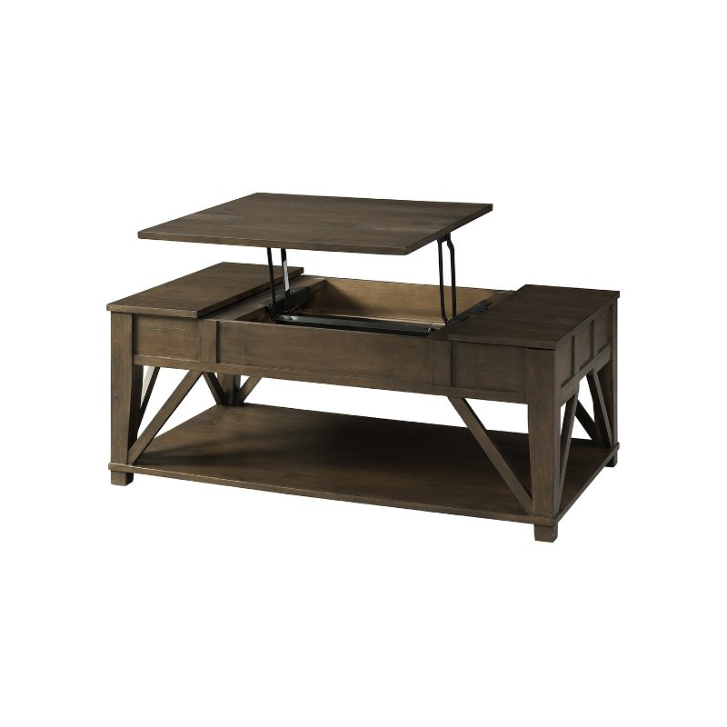 Rustic Lift Top Coffee Table Rc Willey Furniture Store