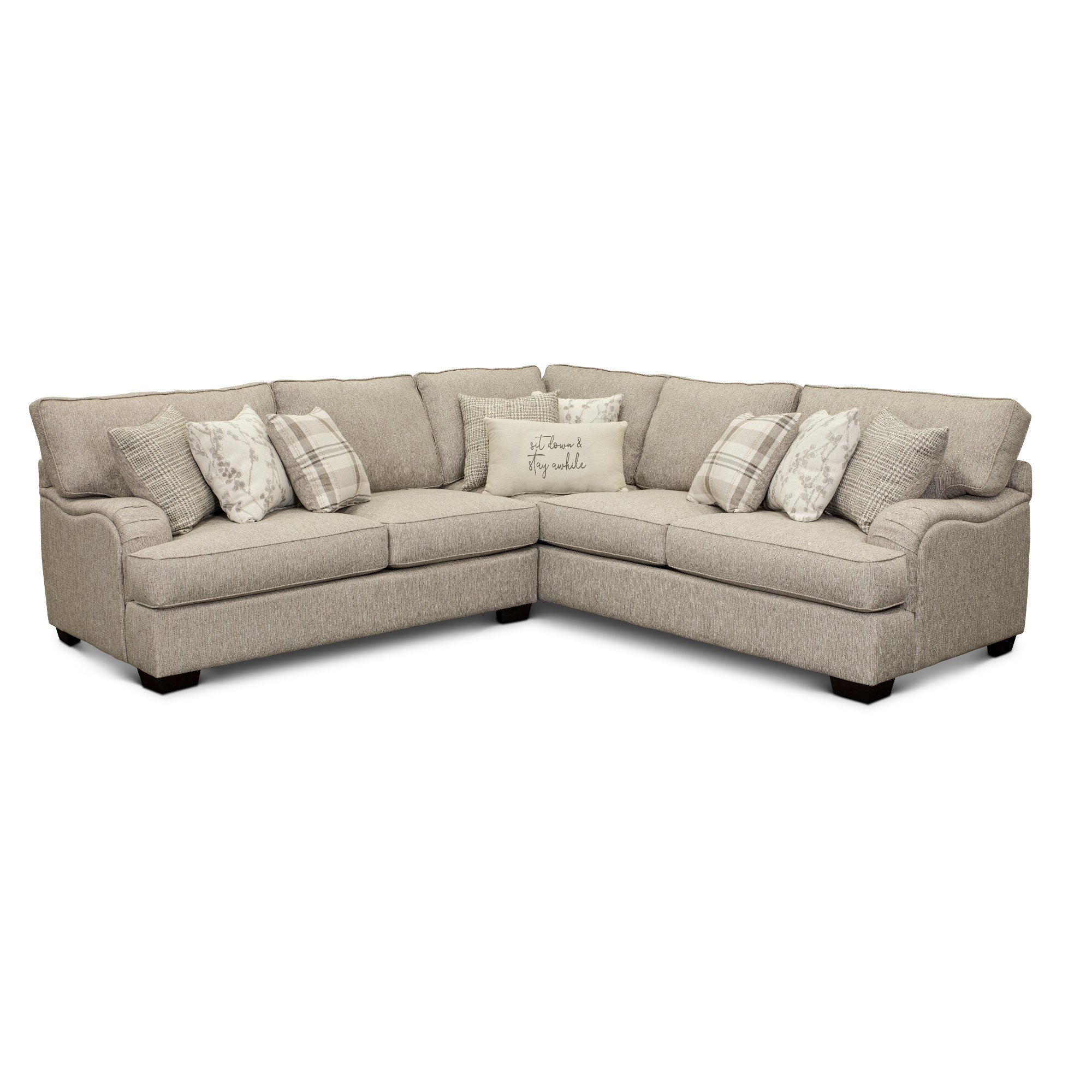 Beige 2 Piece Sectional Sofa With Laf