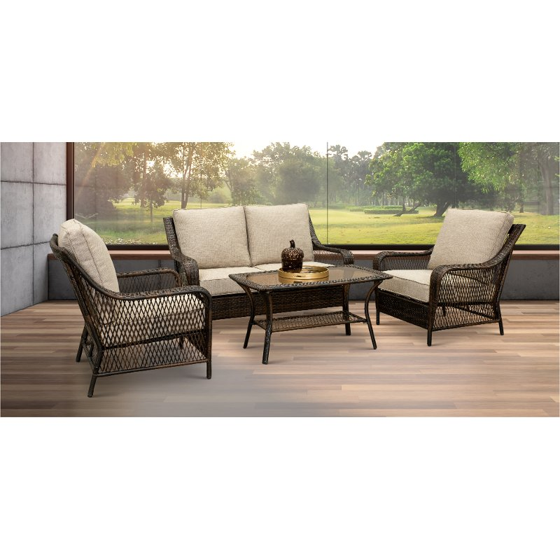 Black Wicker Patio Set Essen