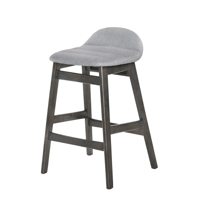 Gray Upholstered 24 Inch Counter Height Stool Samar Rc Willey Furniture Store