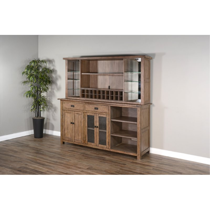 Rustic Brown Dining Room Buffet And, Dining Room Hutch