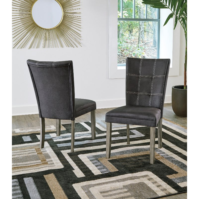 Contemporary Dark Brown Faux Leather Upholstered Dining Room Chair Moxi Rc Willey Furniture Store