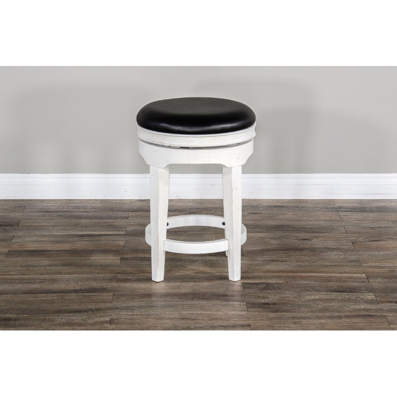 Weathered White Swivel Counter Height Stool Carriage House Rc Willey Furniture Store