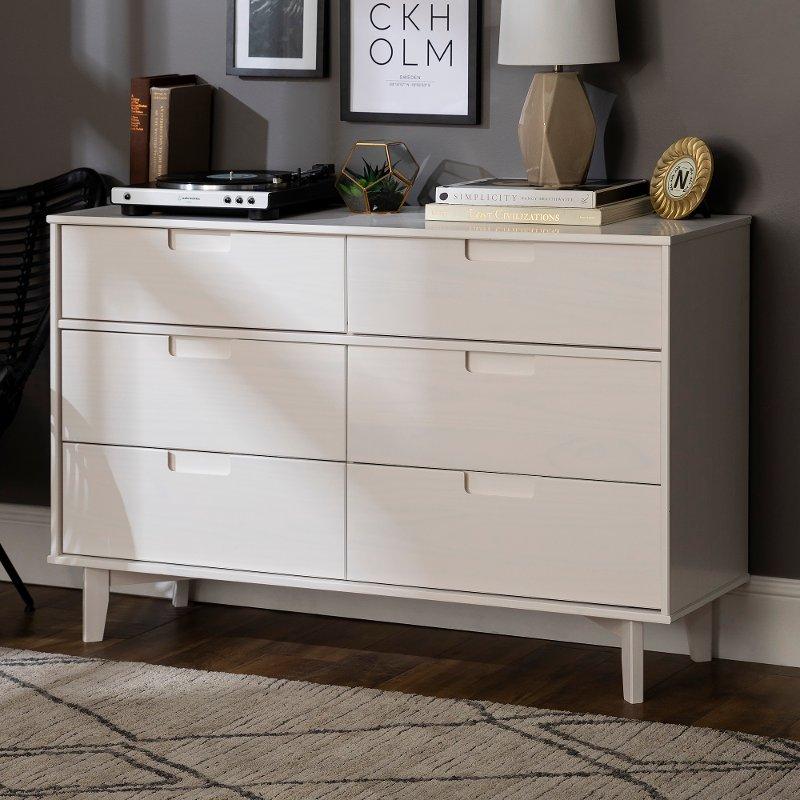 Mid Century Modern White Dresser Sloane Rc Willey Furniture Store